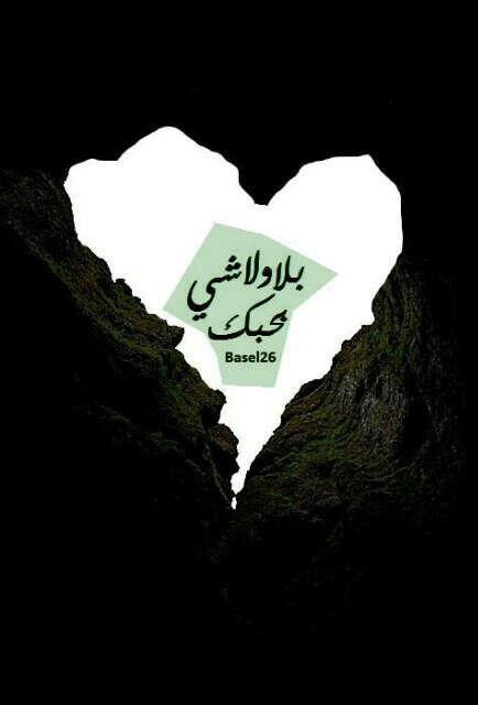 بلا ولا شي بحبك Arabic Words Quotes Love You