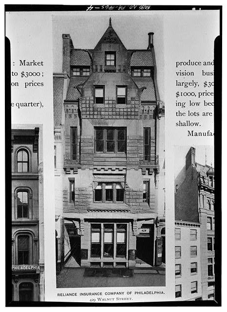 Reliance Insurance Company Of Philadelphia 429 Walnut Street