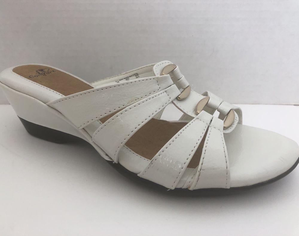 f721edcfff77 I Love Comfort Shoes Womens Size 7 M White Sandals Venus Heels 7M ...