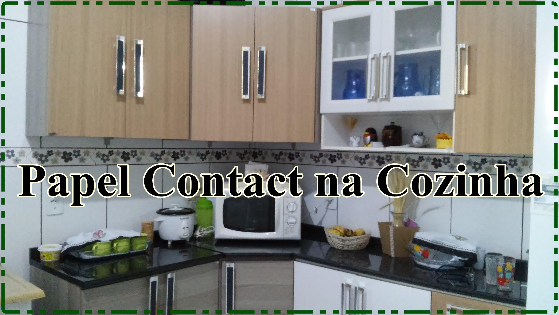Papel Contact Renovando os móveis de Cozinha