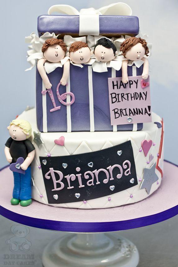 Amazing One Direction Sweet Sixteen Cake Photo