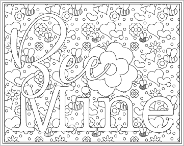 Bee Mine Coloring Page Printable Artwork Coloring Pages Bee Mine