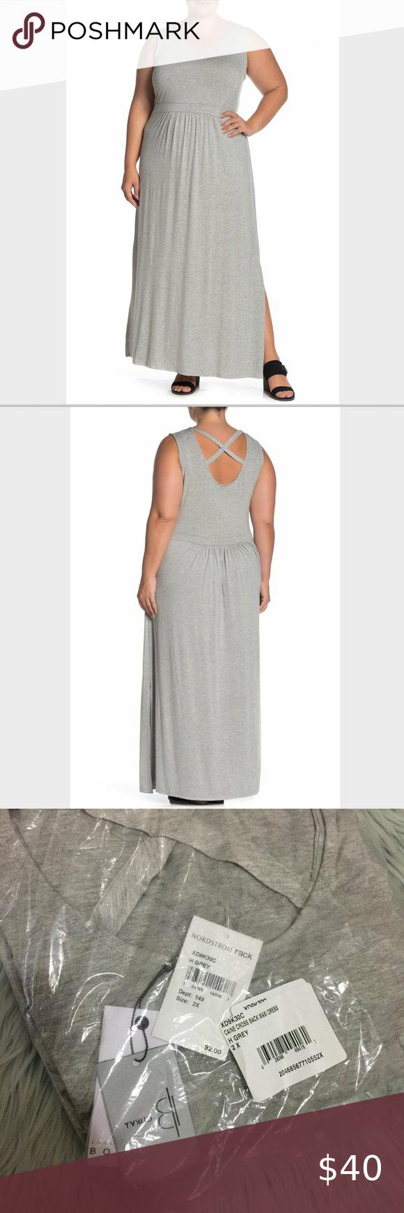 92 New 2x Bobeau Cane Gray Maxi Dress Grey Maxi Dress Knit Maxi Skirt Maxi Dress [ 1740 x 580 Pixel ]