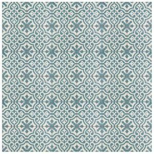 Merola Tile Berkeley Blue Encaustic 17