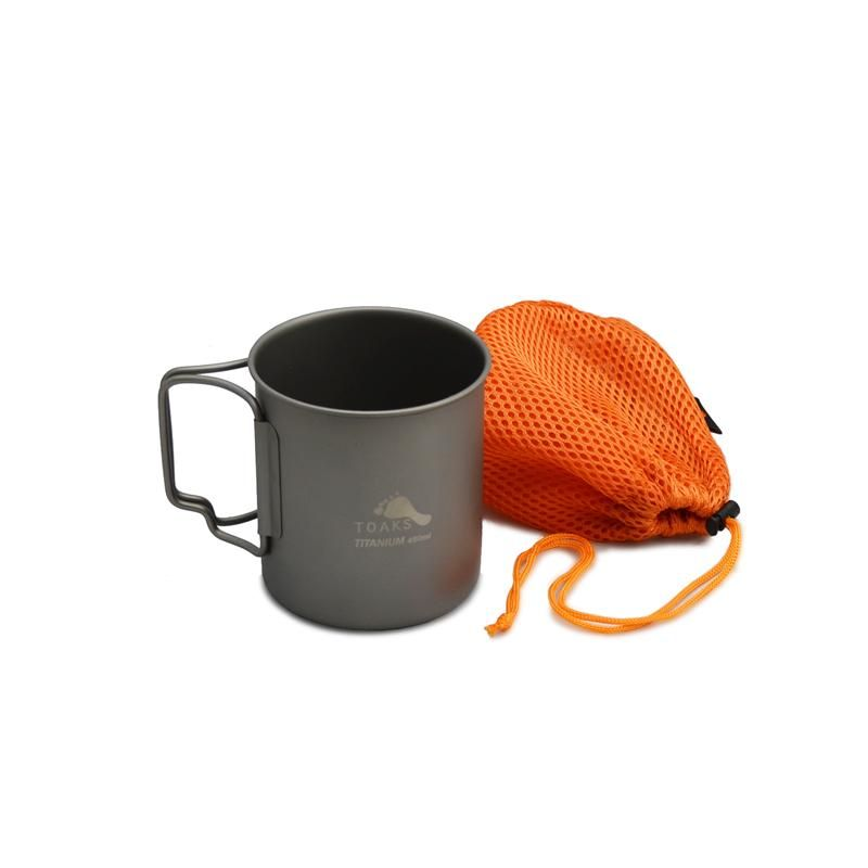 Toaks Titanium 450ml Cup Camping Cups Outdoor Camping