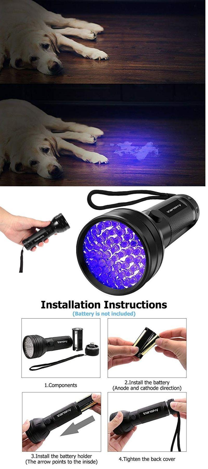 Uv Flashlight Blacklight Uv Lights Led Ultraviolet Blacklight Pet Urine Detector For Dog Cat Urine Pet Odor Eliminator Pet Odors Pets