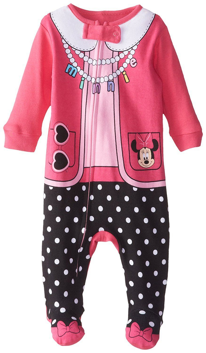 Disney Baby Girls' Minnie Mouse One Piece Blanket Sleeper
