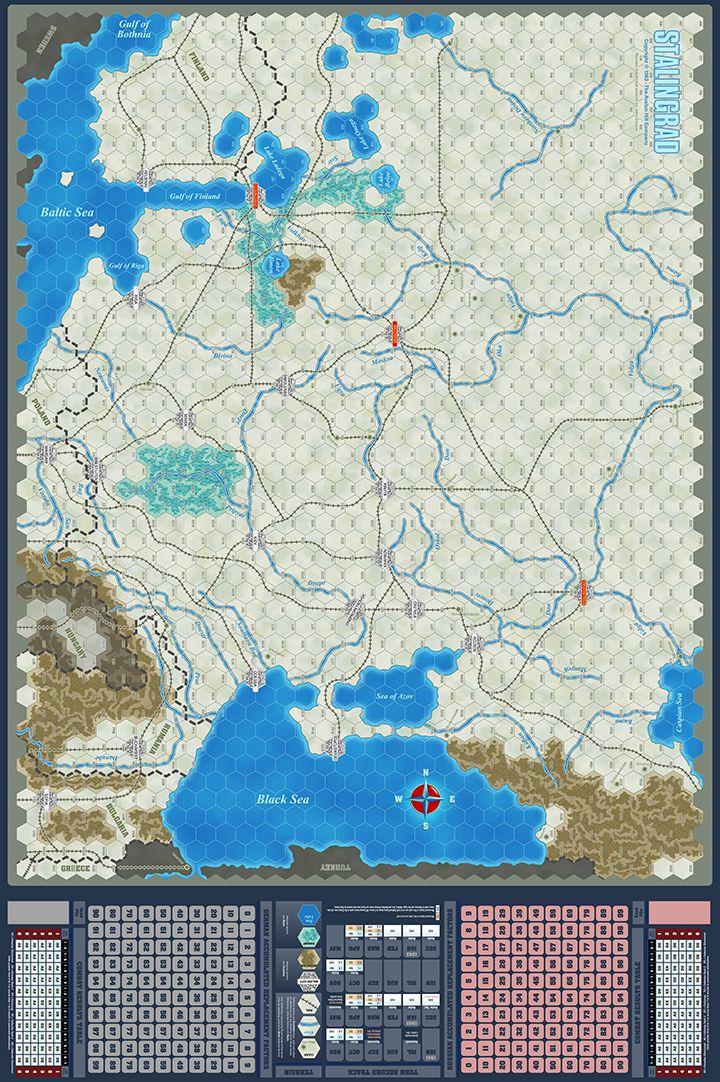 Stalingrad Game Map - John Cooper - Click Image to Close