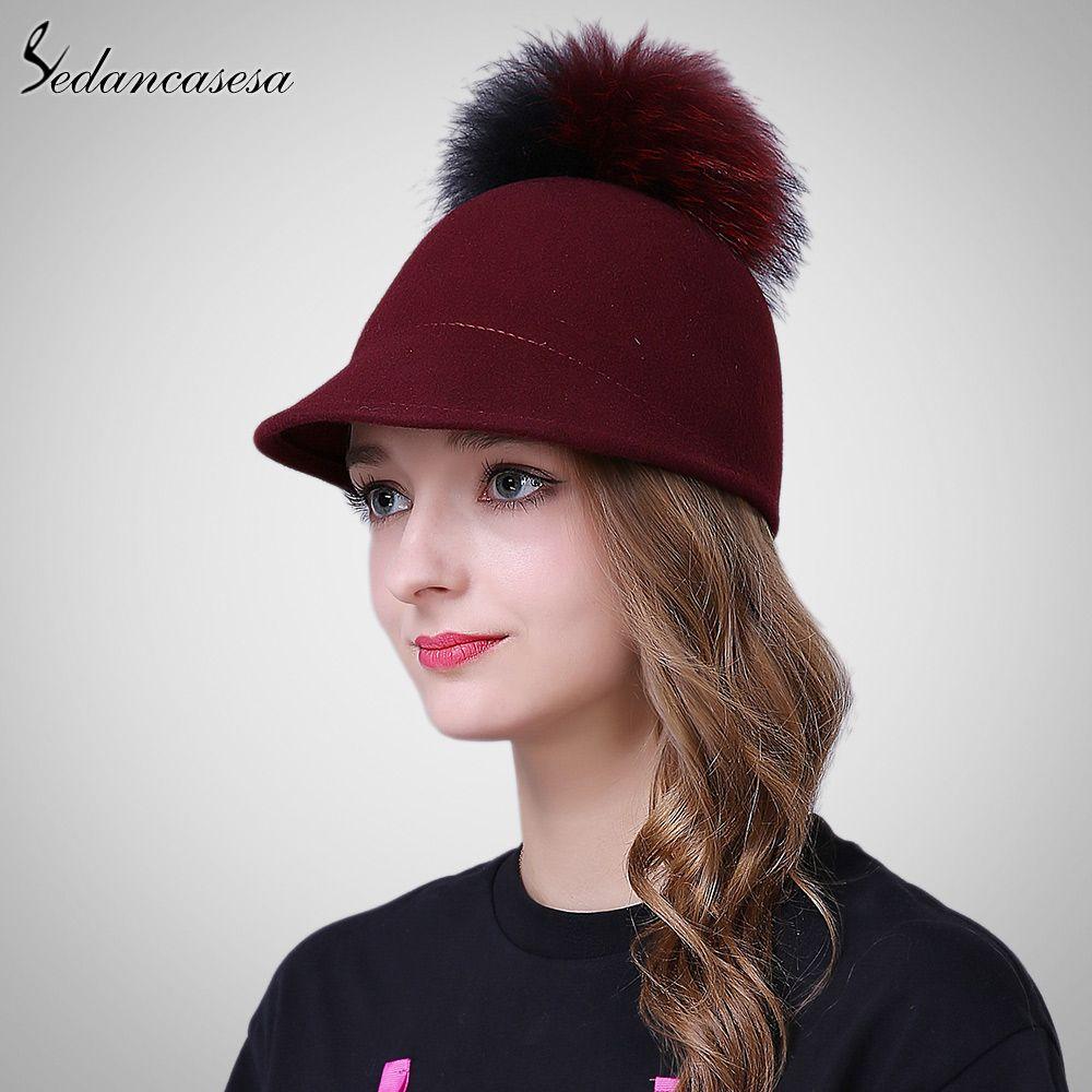 849149f1e1d Knight Hat Equestrian Caps Women Winter Retro British cap wool Fedora Hats  for Street beat Hipster FW219005 Love it   shop  beauty  Woman s fashion ...