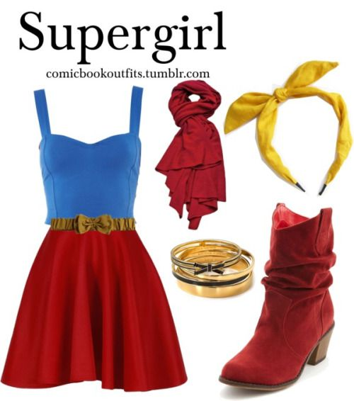 Supergirl by m-gnoud featuring suede western boots