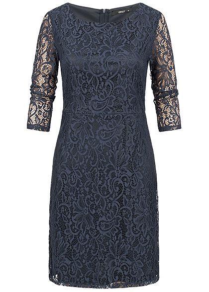 ONLY Damen Mini Kleid 2-lagig Spitze night sky blau - Art ...