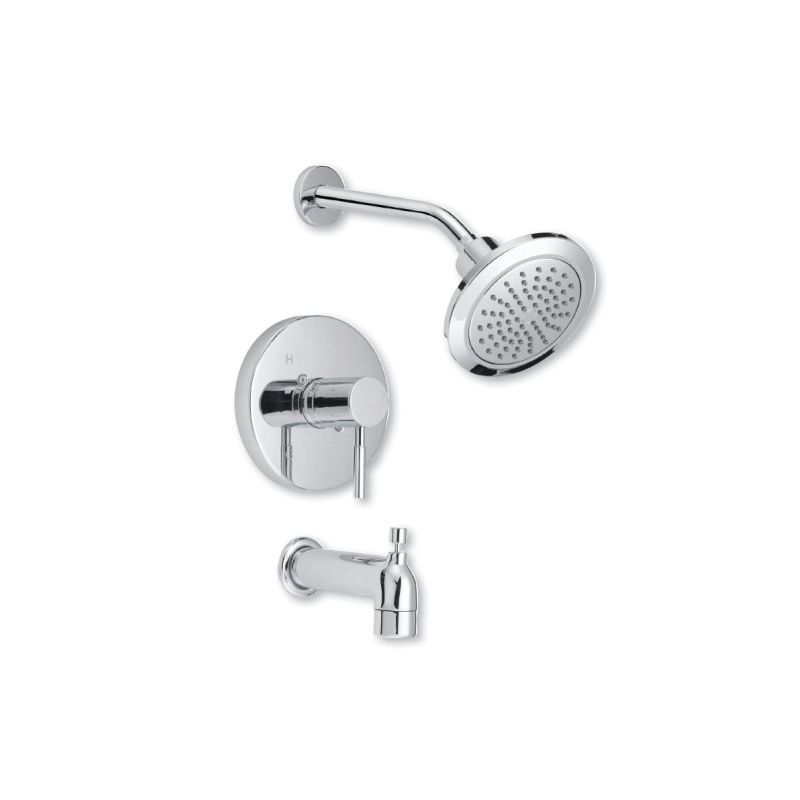 Mirabelle Mired8030e Edenton Tub And Shower Trim Package With Single Function Sh Polished Chrome Faucet Tub And Shower Faucet Tub And Shower Faucets Shower Tub