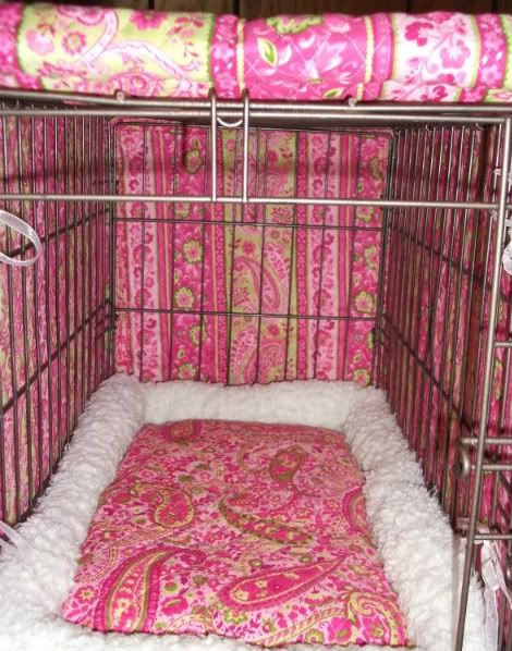 Ideas on how to make a dog crate cover :-)