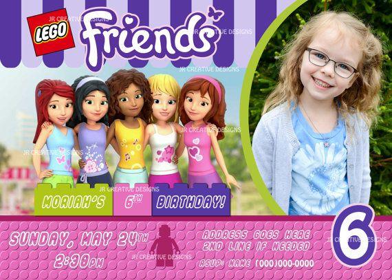 Lego Friends Invitation Lego Friends Invite By JRCreativeDesigns