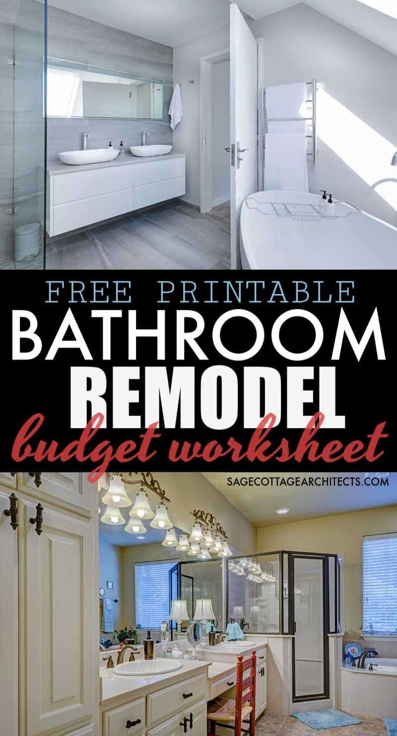 average cost of a bathroom remodel  free budgeting