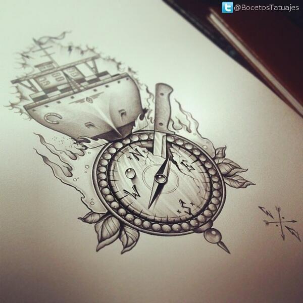 dibujos de brujulas tumblr  Buscar con Google  Tatuajes