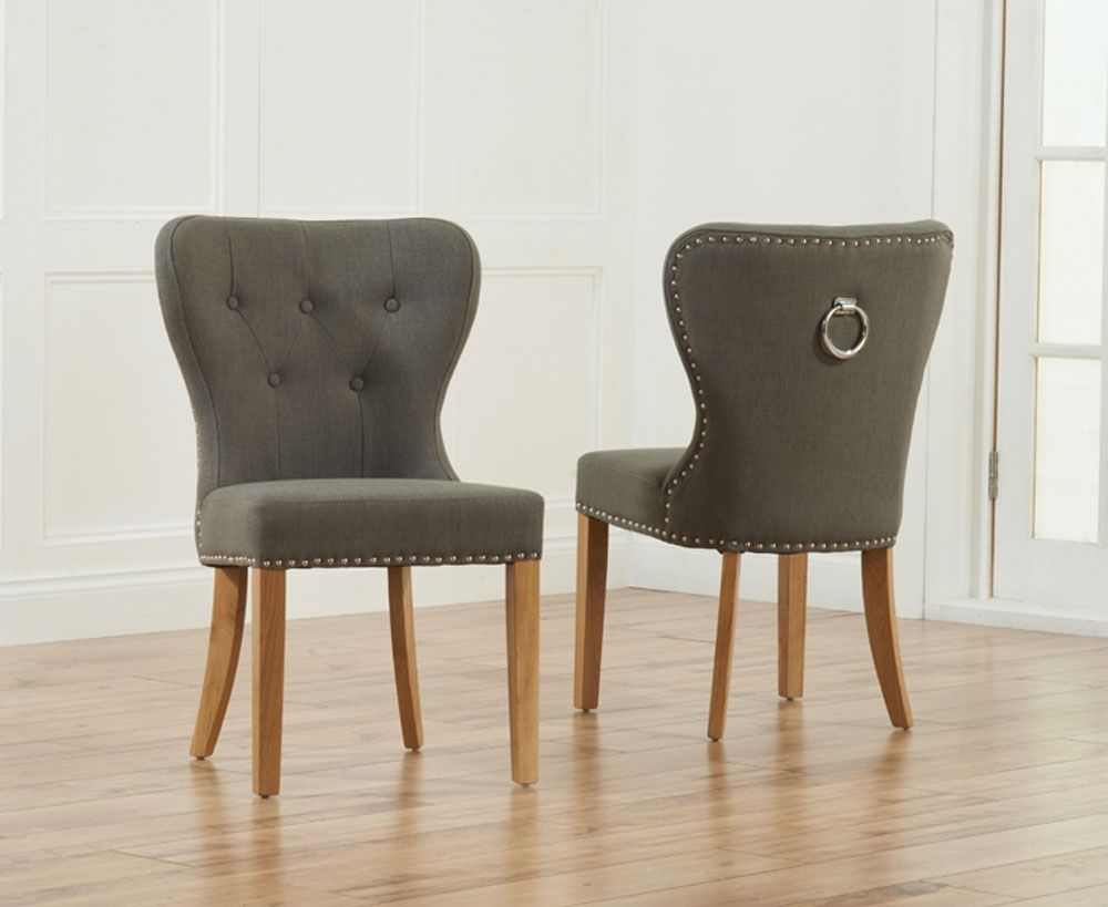 Exceptionnel Room · Dining Chairs Grey Fabric