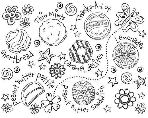 girl scout cookie coloring pictures for kids