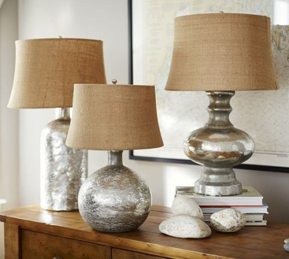 Broyhill table lamps terrific table lamps pinterest i like the one on the right for your master bedroom night stands with a cream burlap shade antique mercury glass table lamp bases aloadofball Images