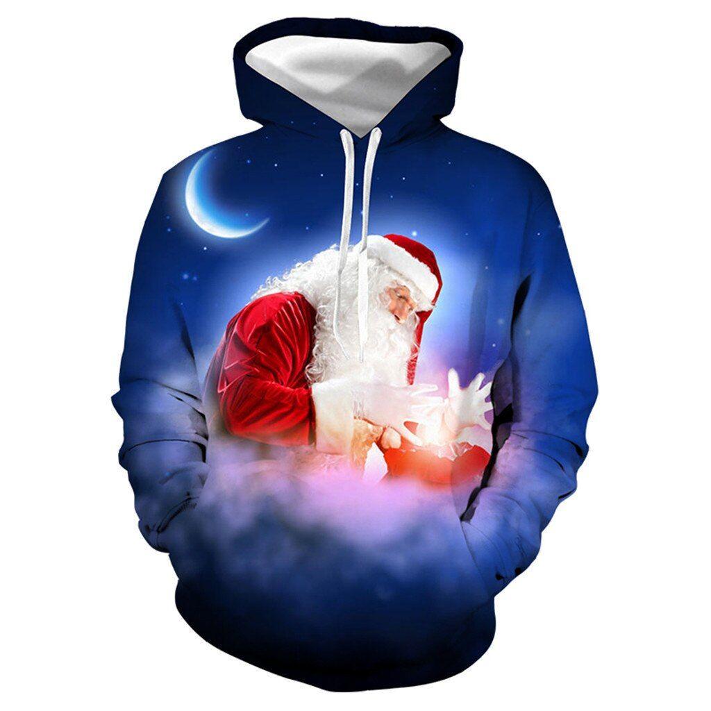 Blouse Just Flow Men Casual Hoddie Christmas Lover 3d Moon Print Party Long Sleeve Hoodie Top Blouse Sonic The Hedgehog S Long Sleeve Hoodie Hoodie Top Hoodies