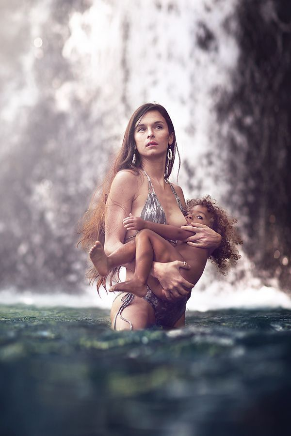 Breastfeeding girl Beautiful patite