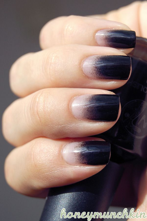 Black Gradient Emelie J S Honeymunchkin Photo Beautylish Black Ombre Nails Ombre Nails Nail Designs