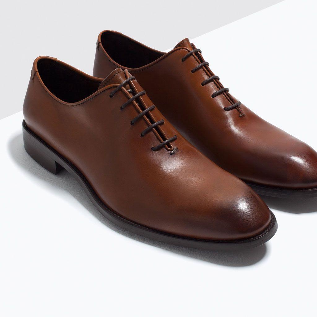 One Piece Leather Shoes Shoes Shoes Man Zara Turkey Shoes