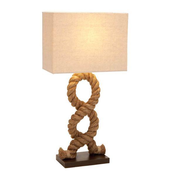 casa cortes hamptons nautical rope pier metal table lamp natural shade brown