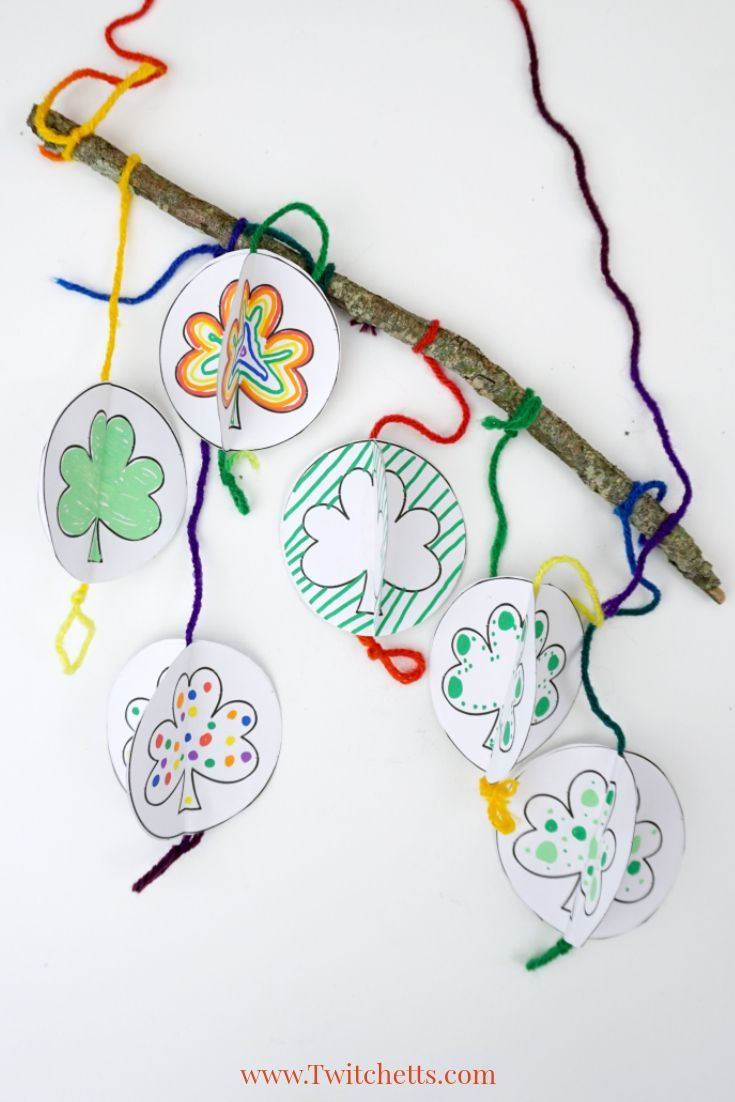 D Paper Shamrock Template  St PatrickS Day Crafts For Kids