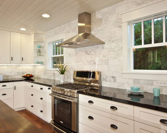 Peachy Kitchen Absolute Black Granite Countertop Carrera Marble Home Interior And Landscaping Synyenasavecom