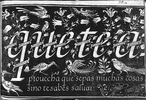 Adornos caligráficos (Motivos animales, etc.) a