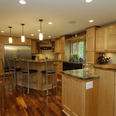 Maple Cabinets And Hickory Floors Google Search Kitchen Maple