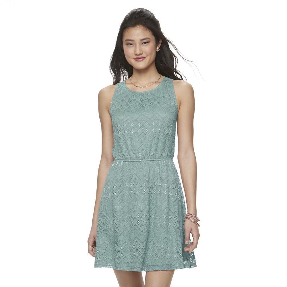Juniorsu up by ultra pink sleeveless lace dress teens size large