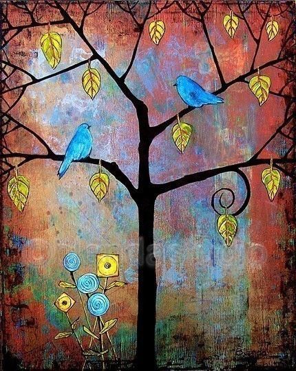 Tree of Life Series 4  Birds by blendastudio