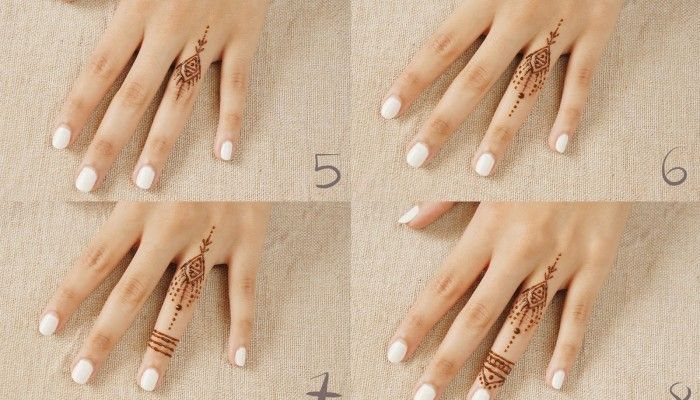 Mehndi Designs For Fingers Step By Step : Simple mehndi designs for beginners step by mehendi
