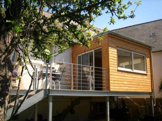 Extension bois + terrasse métallique BALKON Pinterest