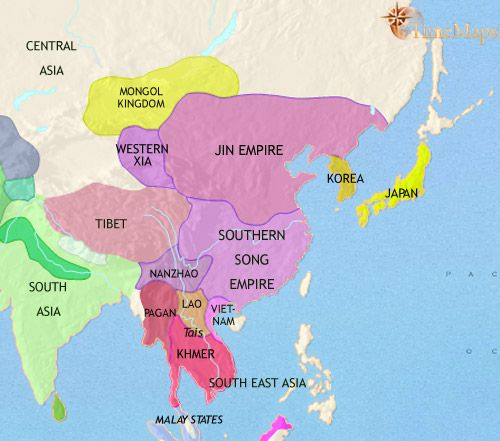 History map of east asia china korea japan 1215ad randalls history map of east asia china korea japan 1215ad gumiabroncs Choice Image