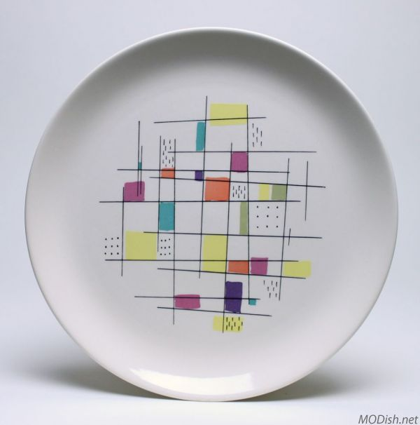 Modern Kitchen Plates: Salem Mosaic Dinner Plate