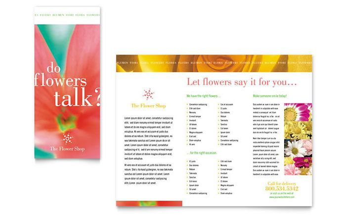 Corporate Event Planner And Caterer Tri Fold Brochure Design