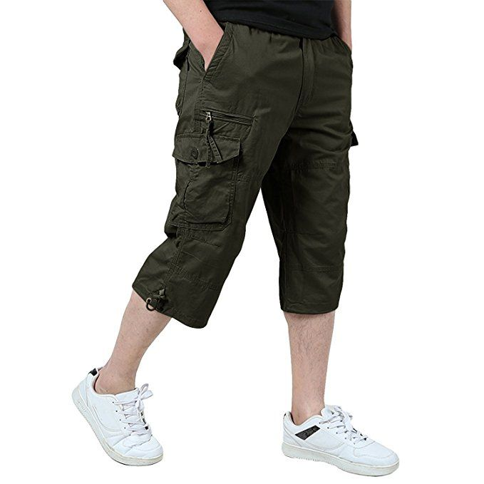 52d5daf43ef3d2 sommer mnner wandern hosen mit groen taschen mnner fitness shorts klettern  reisen kurze with herren 3 4 hose