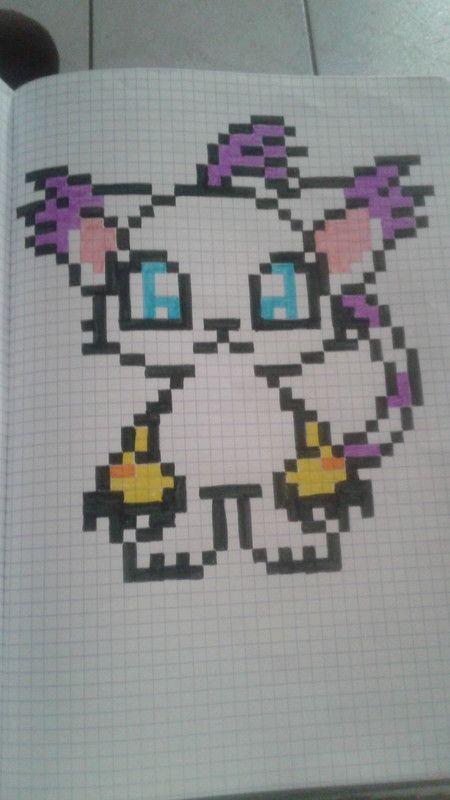 Chat Manga Dessin Pixel Pixel Art Minecraft Et Dessin