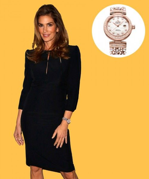 See the timepieces of choice for Leonardo DiCaprio, George Clooney, Emily Blunt and more; Cindy Crawford wears Omega.