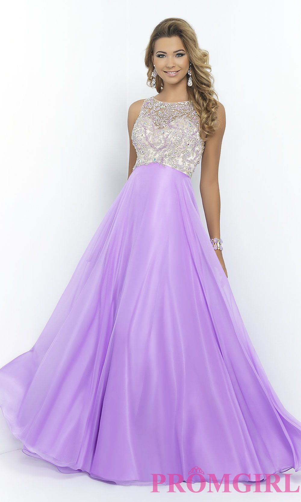 High Neck Beaded Gown