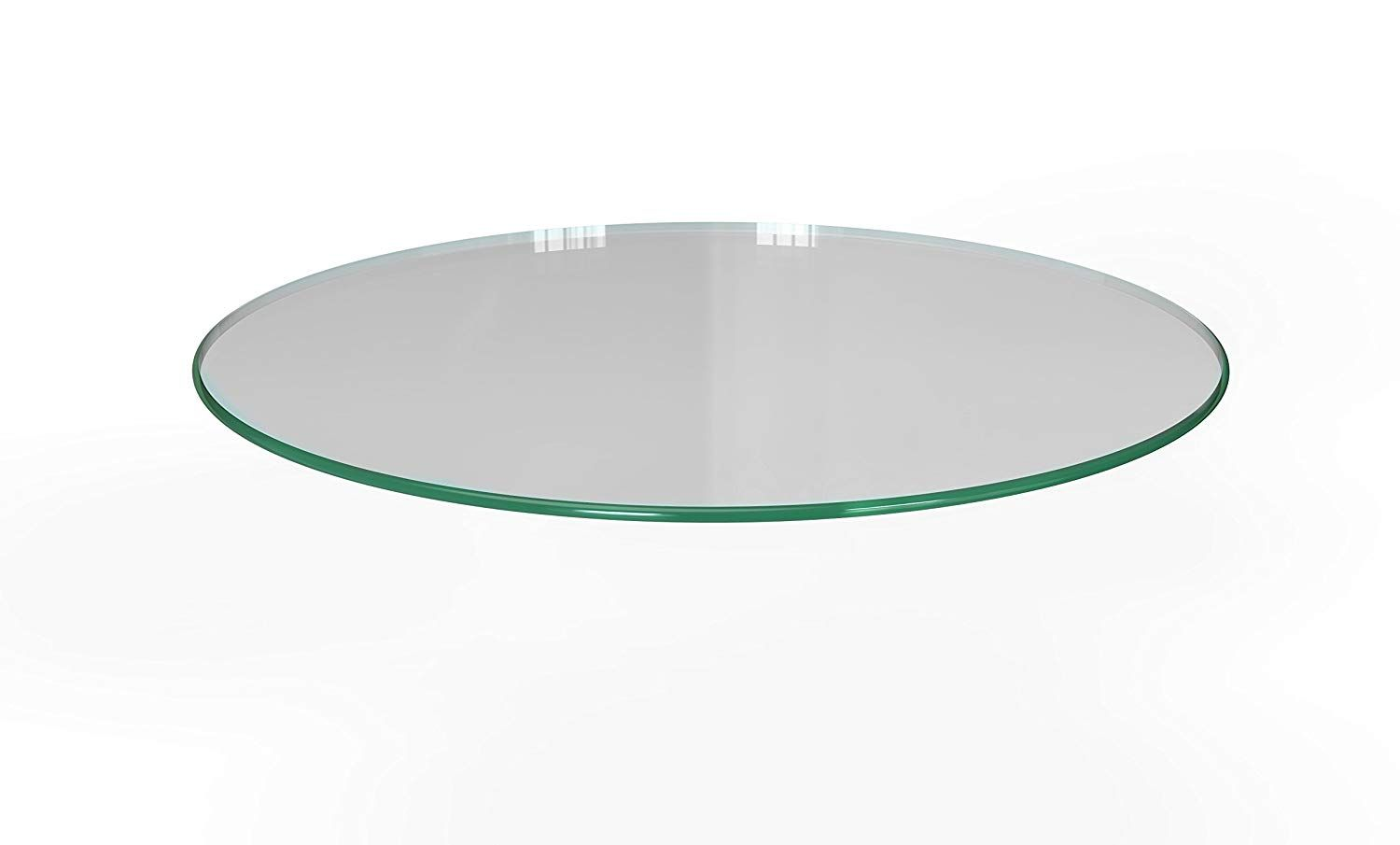 Milan Rd303010pec 30 X 30 Round Tempered Glass Table Top With Pencil Polish Edge Tempered Glass Table Top Glass Top Luxury Dining Tables 30 round glass table top