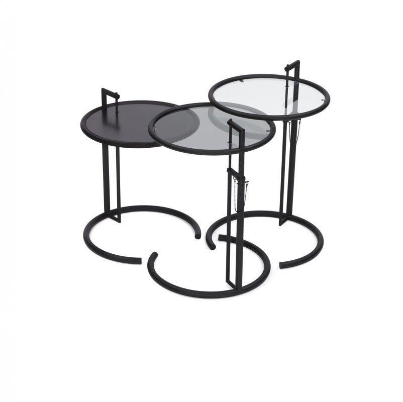 adjustable table e 1027 black version classicon en adjustable table coffee table to dining