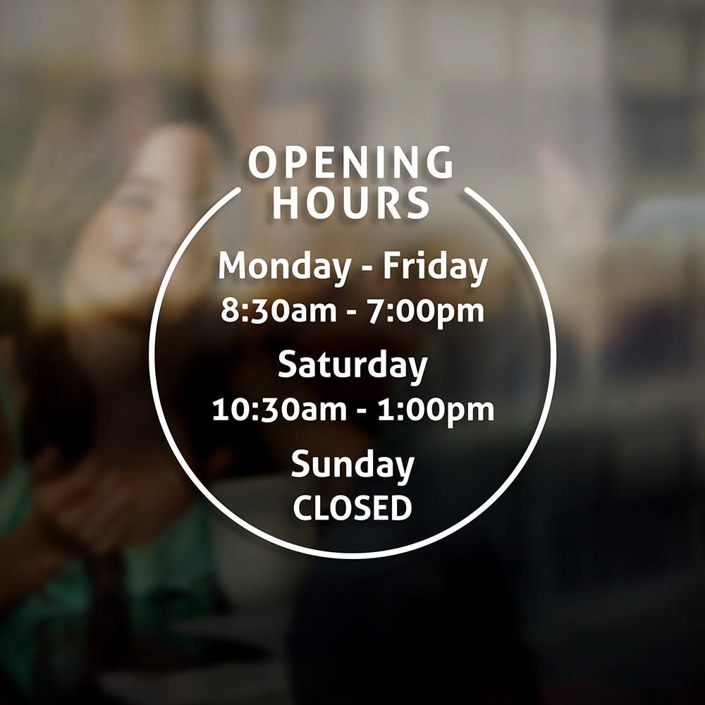 Business Hours Door Sign Oxynux Org