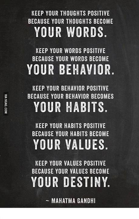 Mahatma Ghandi had it right all those years ago
