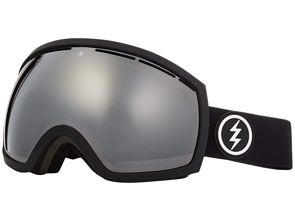 Electric Eyewear EG2 (Matte Black Brose/Silver Chrome) Snow Goggles. Fact: bigger is better  especially when they're the oversized design of the EG2 from Electric. See better and shred harder with these mountain-crushing goggles. Ergonomic frame design for a face-conforming fit. Mold-injected thermo-plastic urethane frame retains its flex in extremely low temperatures  is extremely abrasion resistant  and has high tensile stre #ElectricEyewear #Eyewear #Goggles #Snow #Gray
