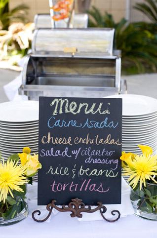 Beach Wedding Mexican Food Buffet Menu