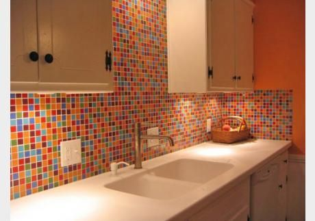 Want Colorful Southwest Glass Tile Backsplash Fiesta Inspired